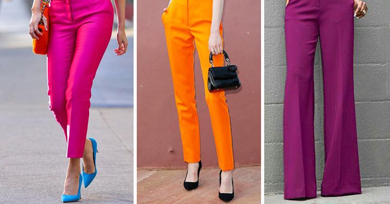 Хит лета 2017 —яркие цветные брюки. Вот с чем их нужно носить…