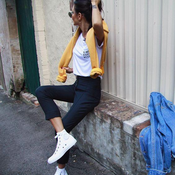 Брюки-сигареты – модный тренд 2018: 17 восхитительных вариантов
